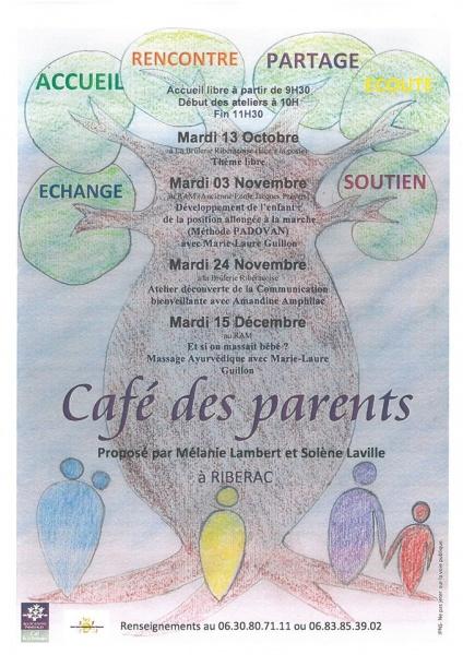 Programme café des parents du 13 octobre au 15 décembre 2015