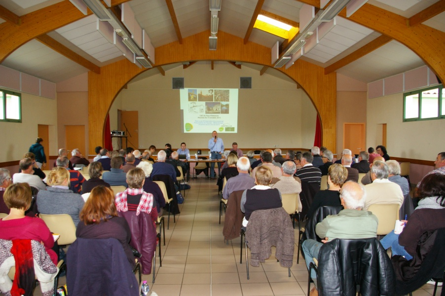 Photo de la réunion d'octobre 2015 du lancement du PLUI