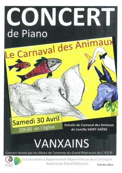 Concert de piano 30.04.2016 à Vanxains
