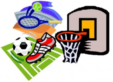 Panier de basket, foot et tennis