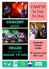 AMP2R Concert le 18.06.2016 à Celles