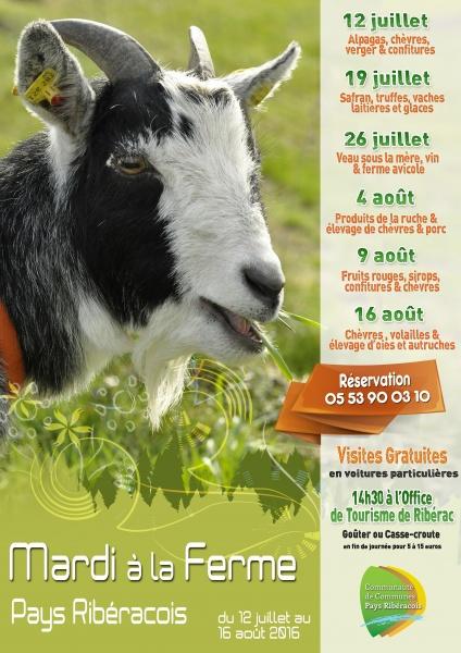 Affiche Visite de ferme 2016